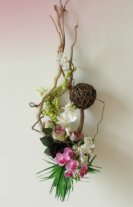 Driftwood Arrangement Display Artificial Flowers KENT